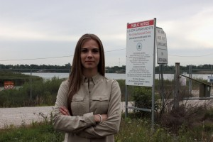 Jackie Young at San Jacinto River Superfund site tells why local lawsuits are important in our Radio Story