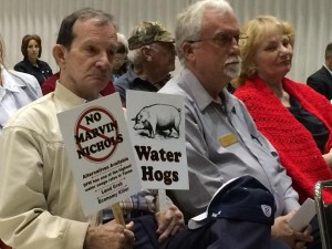 East Texans opposed to the Marvin Nichols Reservoir testified Wednesday before the Texas Water Development Board.