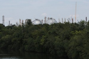 Houston's Ship Channel: home to refineries and petrochemical complex and site of EPA hearing
