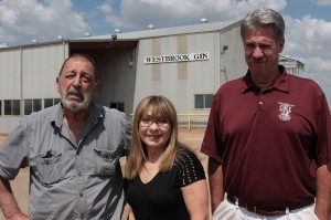 From left to right: Sam Corpora, Kathy Hubbard and Frank DeStefano all have family ties to the farming area where the rail yard project might be built. Photo by Dave Fehling