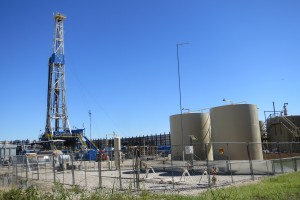 A gas drilling operation in Denton last year.