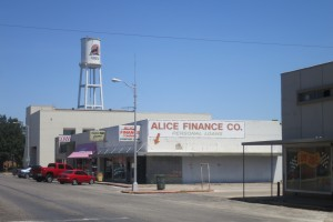 Downtown Alice, Texas.
