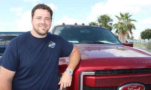 Ryan Peck has been repossessing many more trucks since the downturn in the oilfields.