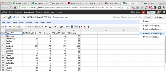 Using Sortable, Searchable Data Tables in Posts | StateImpact